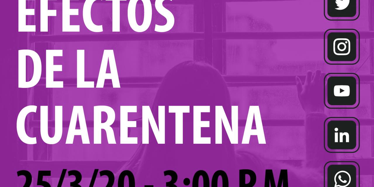 Facebook live acerca de la cuarentena